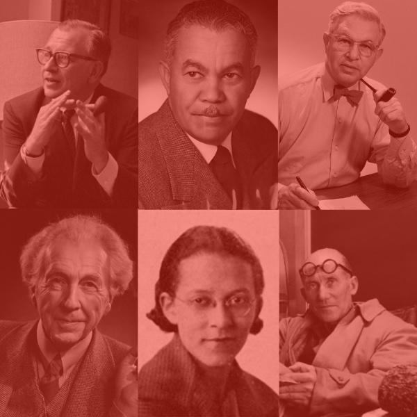 "Modernism Architects - Images courtesy of: Beverly Loraine Greene-""University of Illinois Archives"", Eero Saarinen ""Wikimedia.org"", Paul R Williams - ""1951. Herald Examiner Collection, Los Angeles Public Library"", Frank Lloyd Wright - ""Yousuf Karsh"", Arne Jacobsen - ""1961-1969 Photographer seier+seier"", Le Corbusier - ""Nina Leen -Life Magazine"""